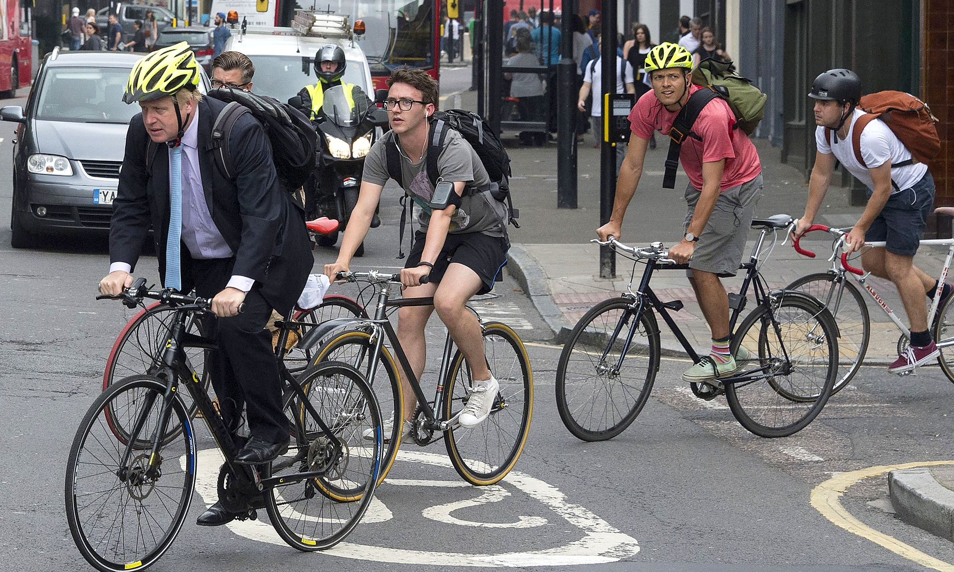 Open data help cyclists plan safer journeys. Photograph: Ray Tang/REX