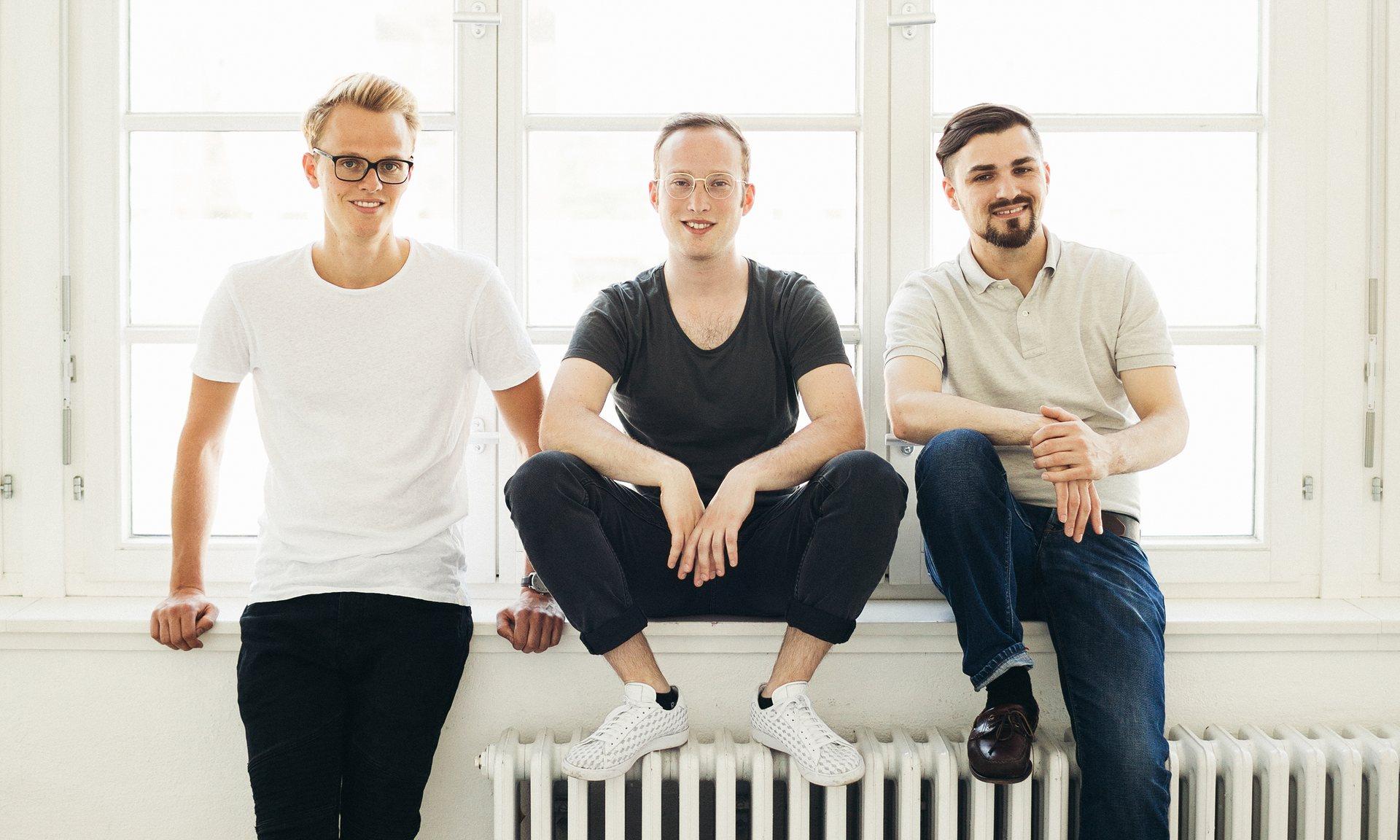 Tim Seithe, Alexander Puschilov and Stefan Nietert. Photograph: MaxThrelfall/ Profund
