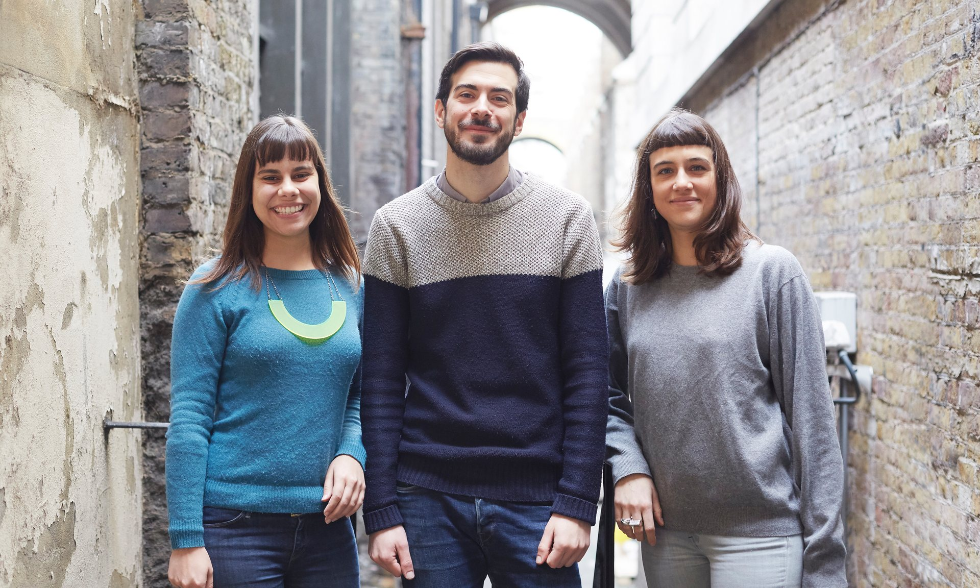 Laís de Almeida, Iban Benzal and Helena Trippe founded RentSquare last year. Photograph: Sara Lyndsey