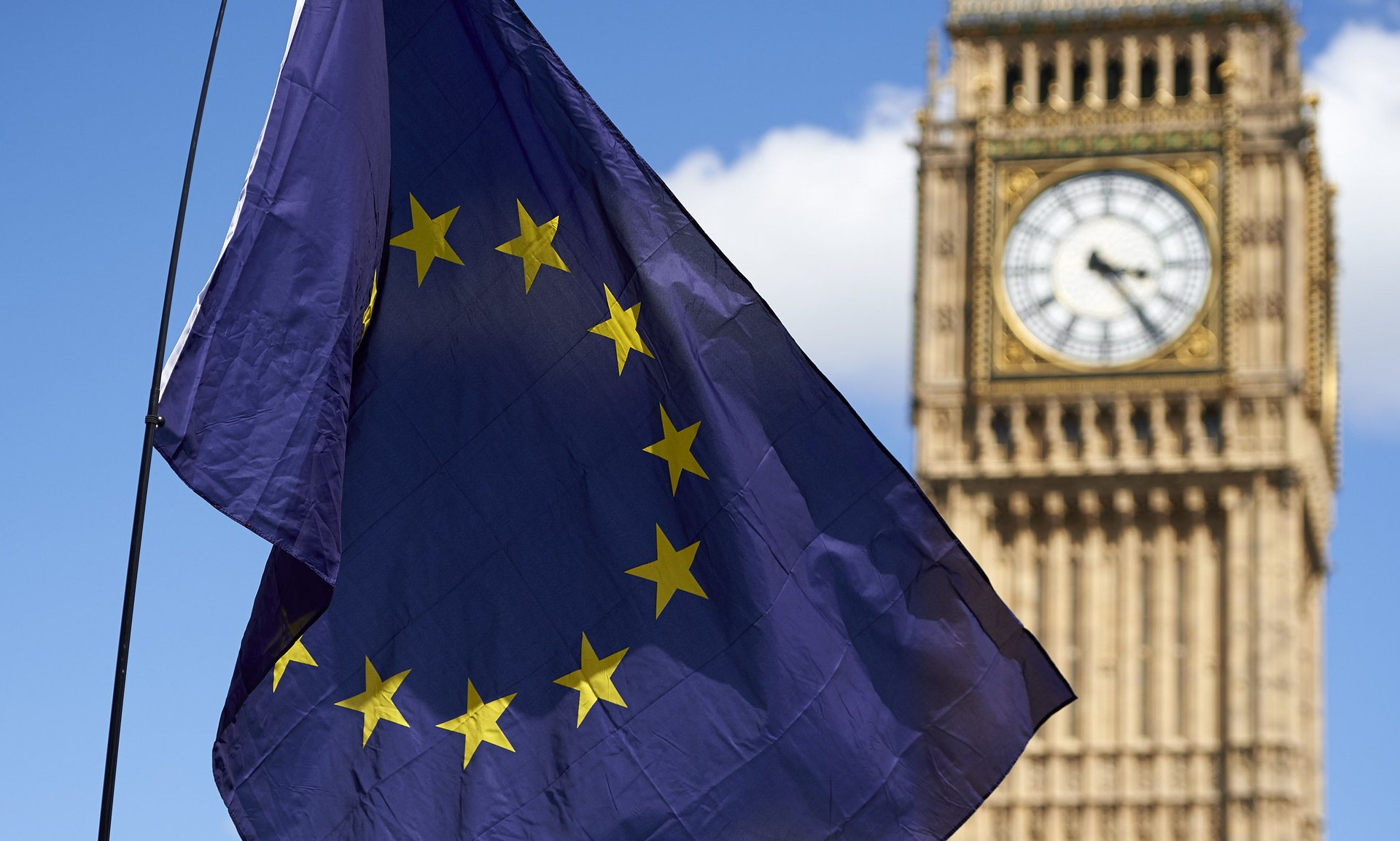Experts say exiting the EU could stifle the UK's open data prospects Photograph: Niklas Halle'N/AFP/Getty Images