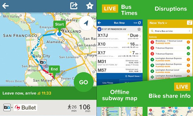 Citymapper is one of a growing number of apps tapping into public data Photograph: PR
