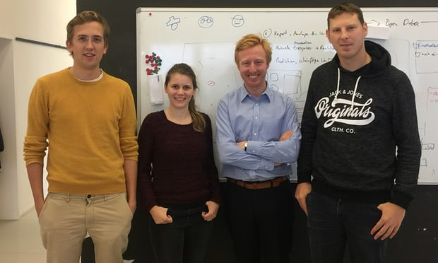 (L-R) Niels Reinhard, Antje Relitz, Paul von Bünau, Daniel Kirsch - the team behind idalab. Photograph: Odine